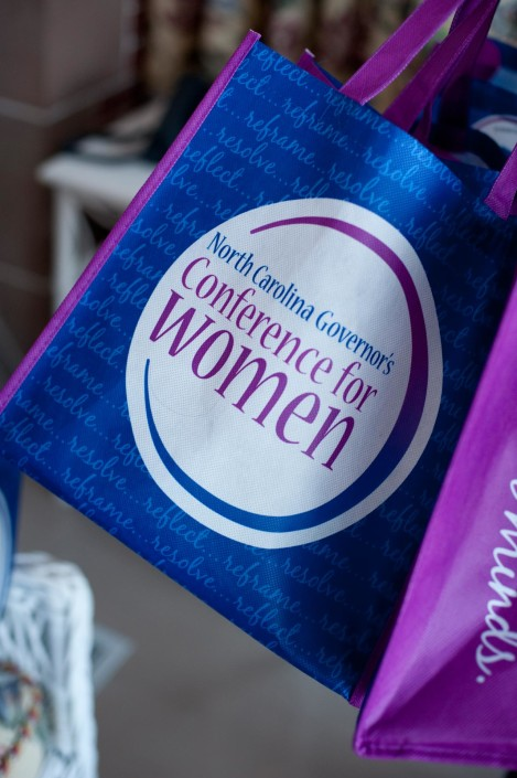 Custom swag bags for The North Carolina Governor's Conference for Women
