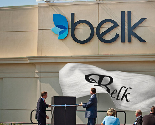 The rebranding events for Belk were multi-day corporate events that included pyrotechnics, fashion shows, an elegant dinner and a kabuki drop.