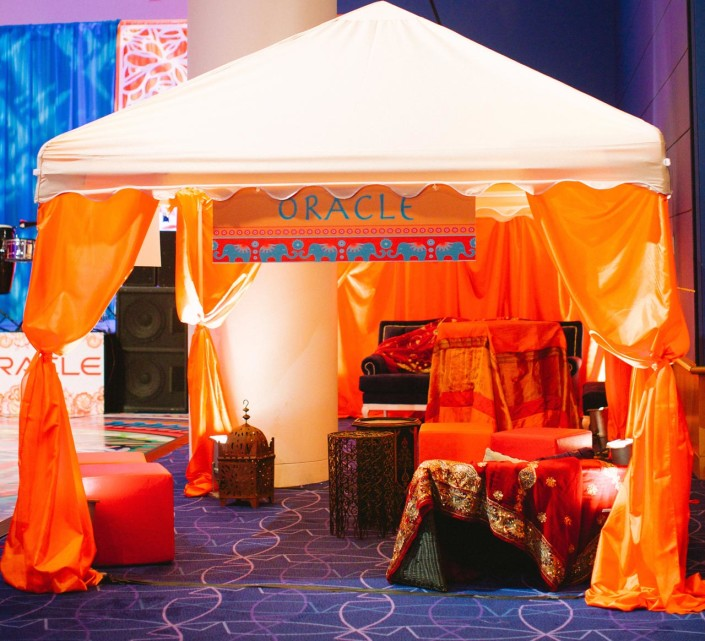 Sponsor Lounges provide opportunities for quiet conversations and networking. A coveted benefit for gala event sponsors.